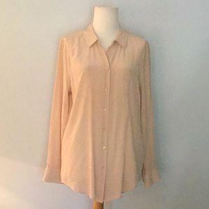 Equipment Femme sueded silk blouse, sz M